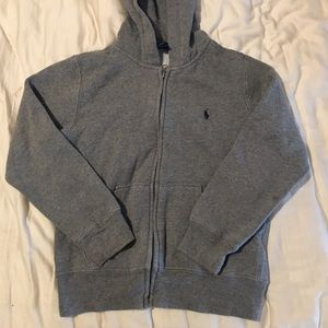 Polo Ralph Lauren gray zipper hoodie sweater S (8)